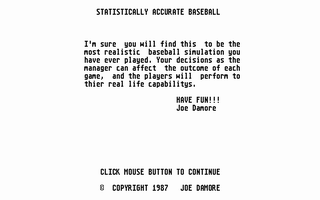 Thumbnail of other screenshot of Statistically Accurate Baseball