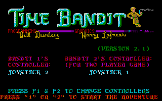 The title screen.