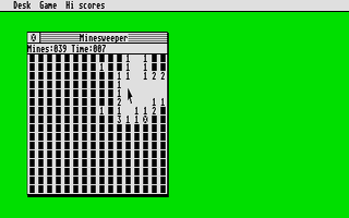 Thumbnail of other screenshot of Minesweeper ST