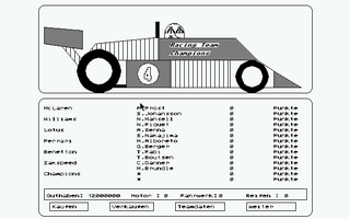 Screenshot of Formel 1 - Manager