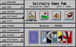Thumbnail of other screenshot of Solitaire Game Pak