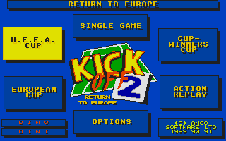 Thumbnail of other screenshot of Kick Off 2 - Return to Europe [data disk]