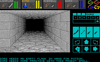 Screenshot of Dungeon Master - The Tomb of King Hissssa