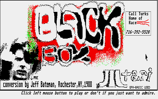 Screenshot of Black Box