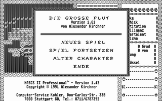 Thumbnail of other screenshot of Hascs II Professional -  Die Grosse Flut