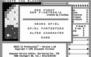 Screenshot of Hascs II Professional - Der Furst Der Finsternis