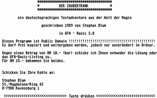 Thumbnail of other screenshot of Der Zaubertrank