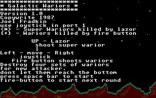 Screenshot of Galactic Wariors
