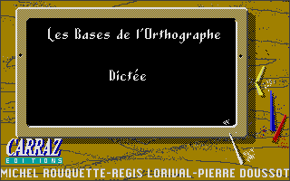 Screenshot of Bases de l'Orthographe,  Les - La Dictee CE1-CE2