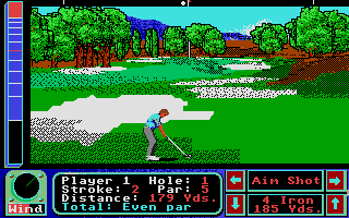 Screenshot of Jack Nicklaus - The International Course Disk