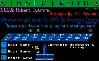 Screenshot of Insectroid