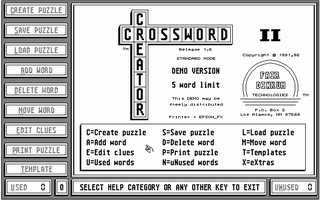 Thumbnail of other screenshot of Crossword Creator II