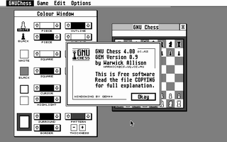 Screenshot of GNU Chess