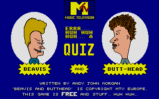 Thumbnail of other screenshot of Beavis and Butt-Head Quiz