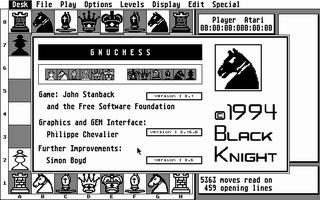 Screenshot of Gnuchess
