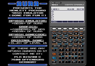 Screenshot of HP48SX Emulator