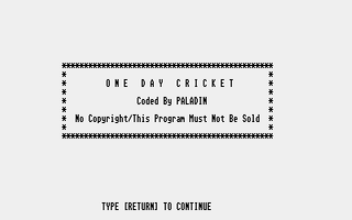 Thumbnail of other screenshot of One Day Cricket