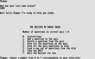 Screenshot of Quizzer, The