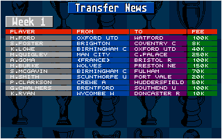 Screenshot of Championship Manager 94 - End of Season Edition
