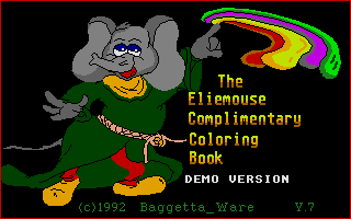 Thumbnail of other screenshot of Eliemouse Complimentary Coloring Book