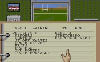 Screenshot of Rugby League Coach