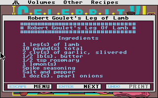 Thumbnail of other screenshot of Celebrity Cookbook Vol 1