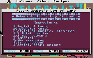 Screenshot of Celebrity Cookbook Vol 1