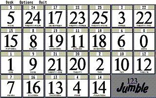 Screenshot of 123 Jumble
