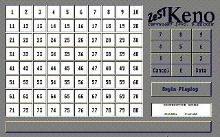 Screenshot of ZeST Keno
