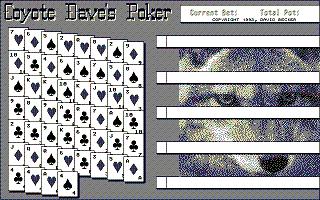 Screenshot of Coyote Dave's Poker