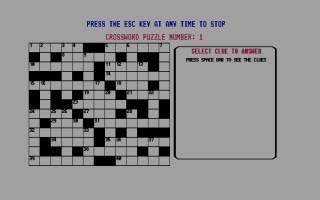 Screenshot of Budgie's Crosswords