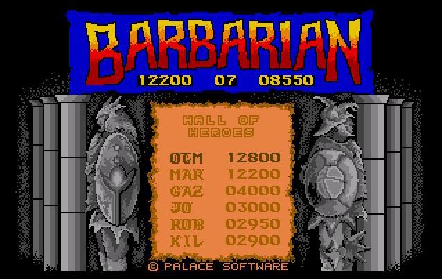 Screenshot of Barbarian - The Ultimate Warrior