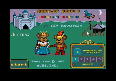 Screenshot of Bentley Bears Magical Math 2