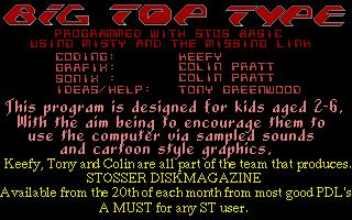Thumbnail of other screenshot of Big Top Type