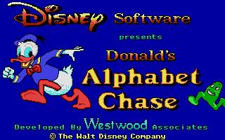 Screenshot of Donald's Alphabet Chase