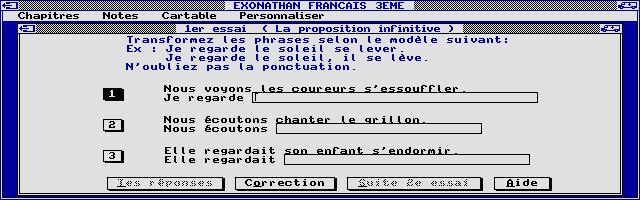 Thumbnail of other screenshot of Exonathan Français 3e