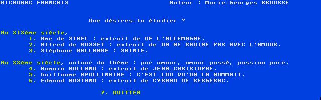 Screenshot of Micro Bac Français