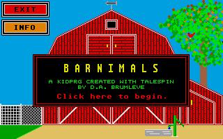 Screenshot of Barnimals