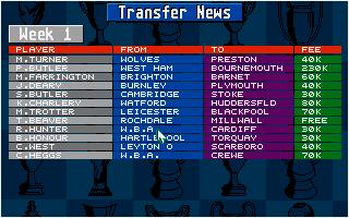 Screenshot of Championship Manager 93
