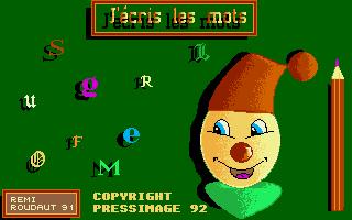 Screenshot of J'ecris les Mots