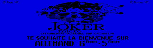 Thumbnail of other screenshot of Joker Micro - Allemand 6e-5e