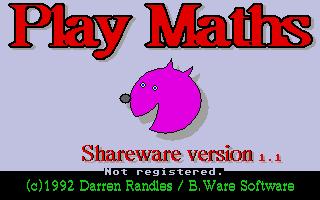 Screenshot of Play Maths