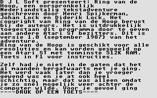 Screenshot of Ring van de Hoop