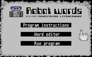 Thumbnail of other screenshot of Robot Words