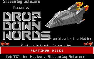 Screenshot of Drop down Words