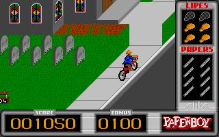 Screenshot of Paperboy