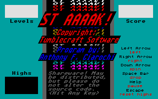 Screenshot of ST Aaaak!