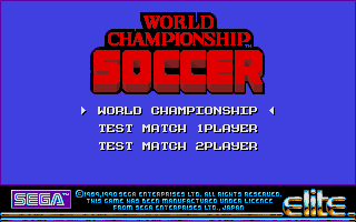 Screenshot of World Championship Soccer