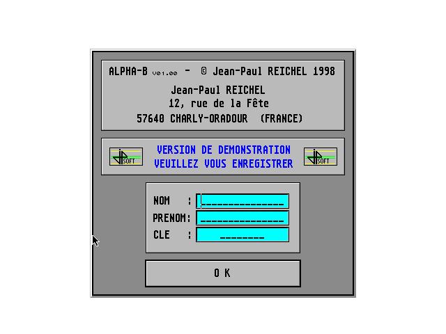 Screenshot of Alpha-B