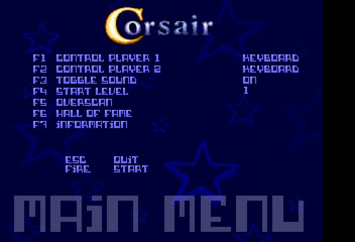 Screenshot of Corsair